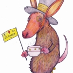 'Aardvark Wearing a Top-Hat and Monocle Drinking A Cup of Tea'